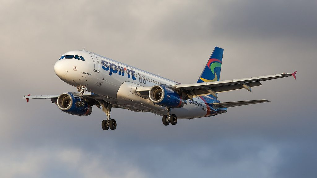 Spirit Airlines N617NK Airbus A320 200 on final approach at LAX Airport