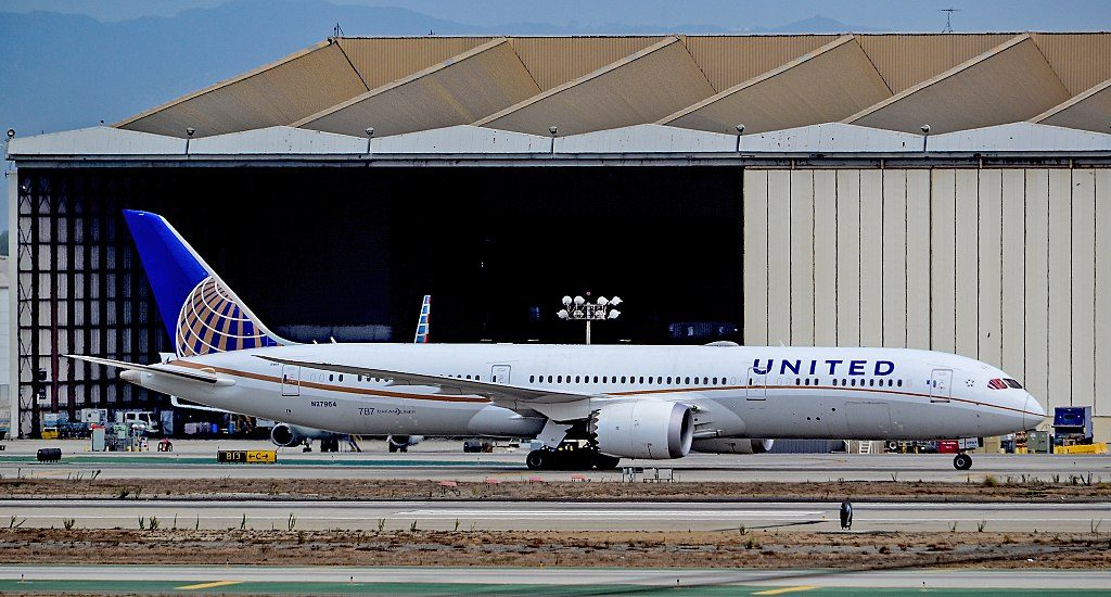 United Airlines Aircraft Fleet 2016 to date as N27964 Boeing 787 9 Dreamliner cnserial number 37813398 after maintenance at Los Angeles International Airport IATA LAX ICAO KLAX FAA LID LAX