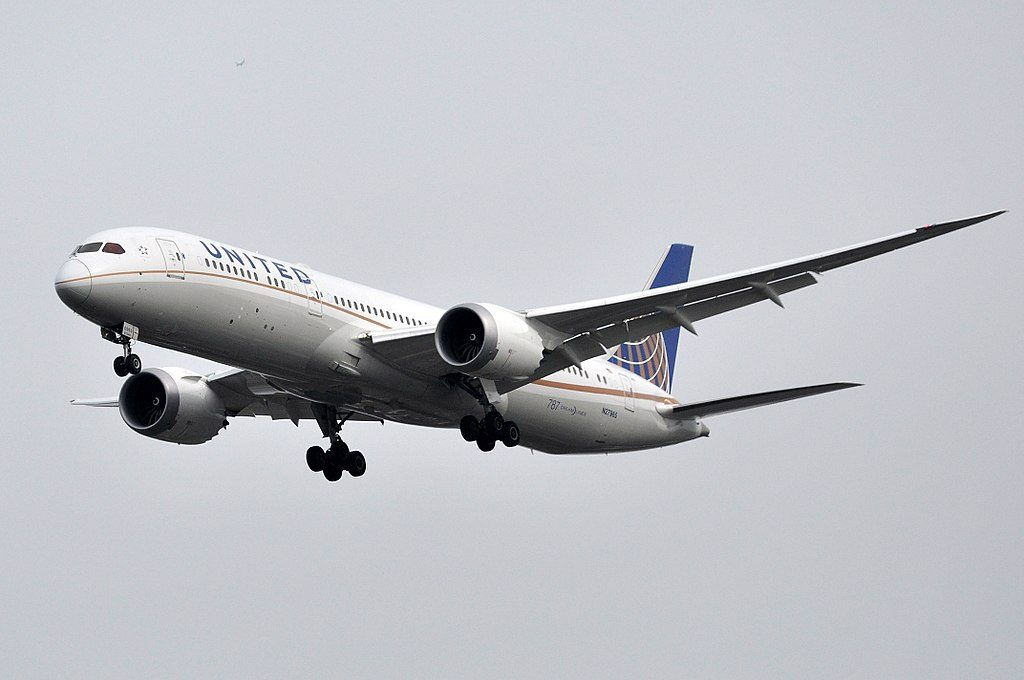 United Airlines Aircraft Fleet 2016 to date as N27965 Boeing 787 9 Dreamliner cnserial number 37815402 landing at London Heathrow Airport