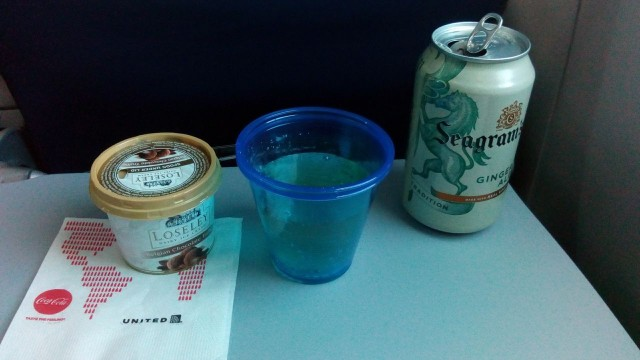United Airlines Aircraft Fleet Boeing 787 8 Dreamliner Economy Class Cabin Inflight Services Ice Cream and Drinks