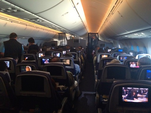 United Airlines Aircraft Fleet Boeing 787 8 Dreamliner Economy Plus Premium Eco Cabin Inflight View Interior and Seats Layout