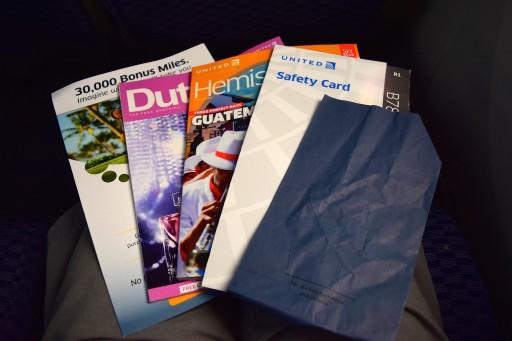 United Airlines Aircraft Fleet Boeing 787 8 Dreamliner Economy Plus Premium Eco Cabin Seatback contents Photos