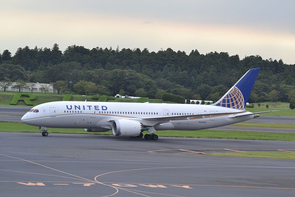 United Airlines Aircraft Fleet Boeing 787 8 Dreamliner N20904 cnserial number 3482453 at Tokyo Narita NRT