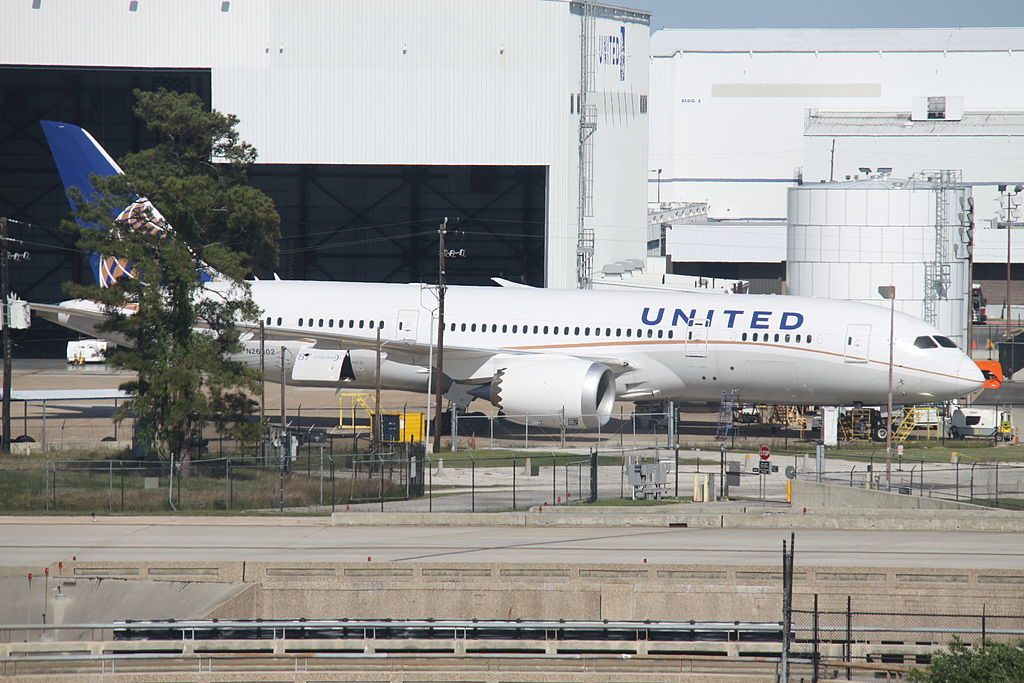 United Airlines Aircraft Fleet Boeing 787 8 Dreamliner N26902 cnserial number 3482250 at Houston George Bush Intercontinental