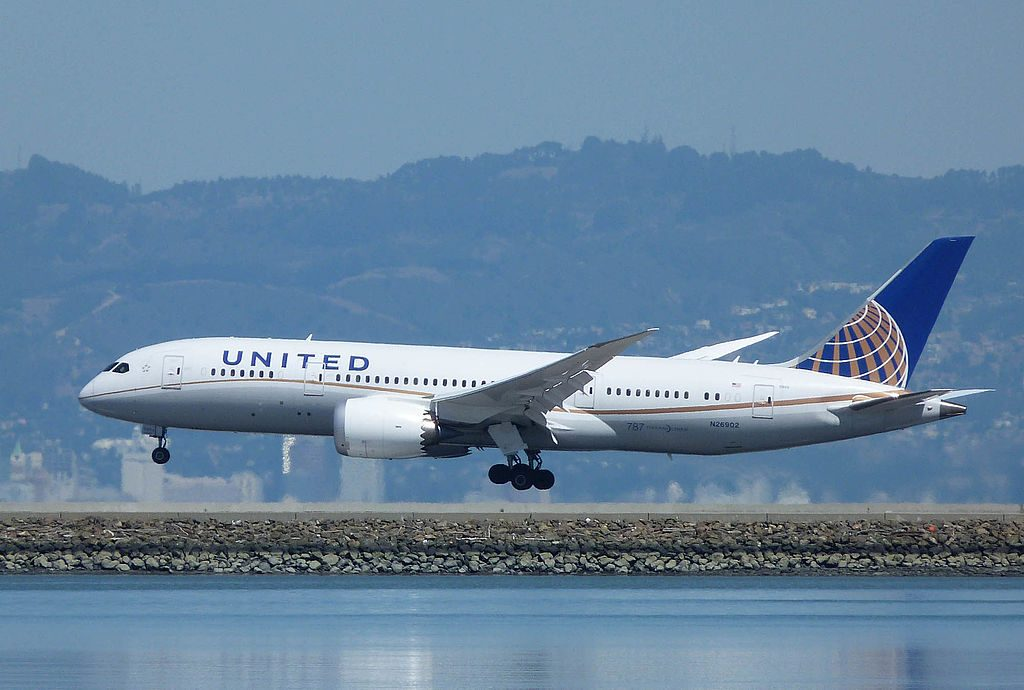 United Airlines Aircraft Fleet Boeing 787 8 Dreamliner N26902 cnserial number 3482250 landing at San Francisco International Airport