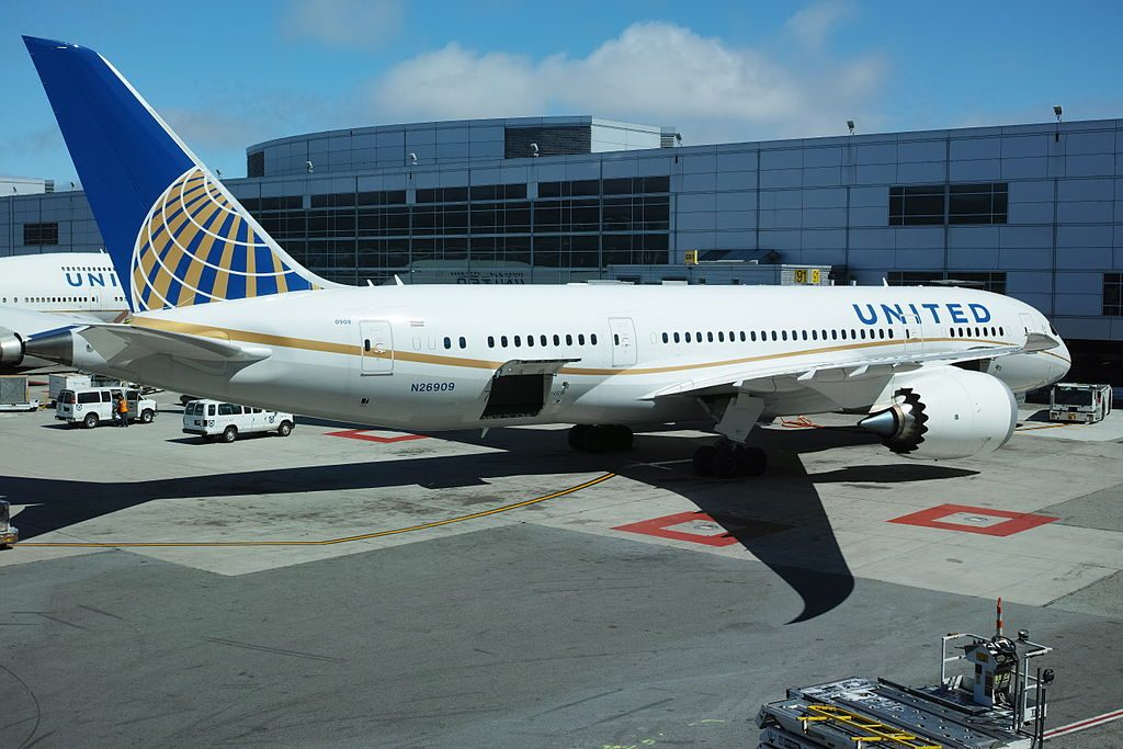 United Airlines Aircraft Fleet Boeing 787 8 Dreamliner N26909 cnserial number 34827135 parking at SFO Airport