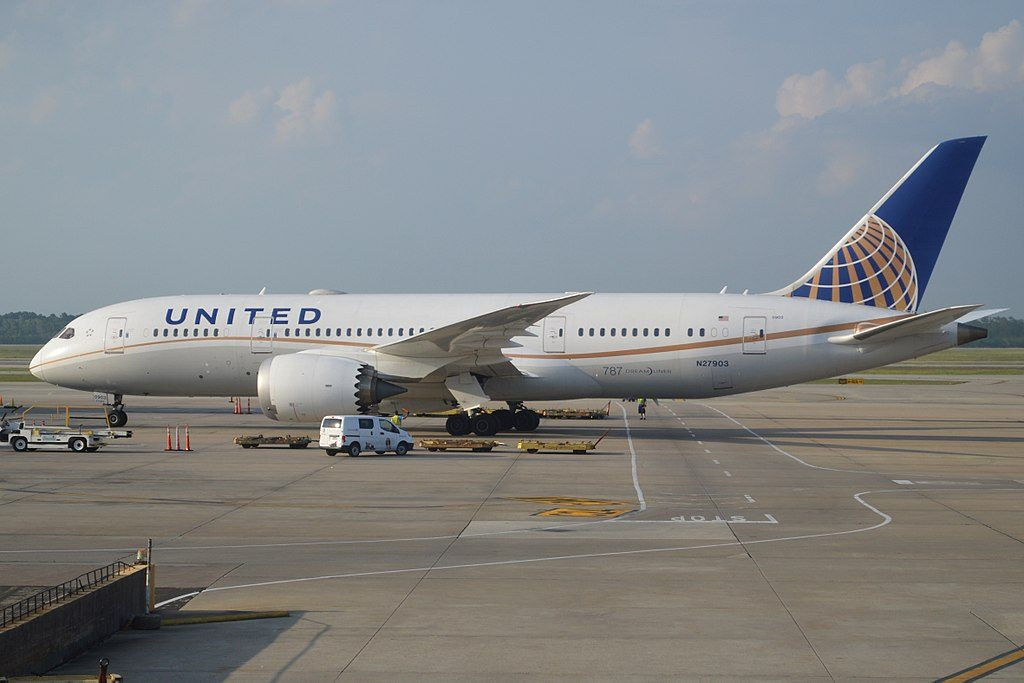 United Airlines Aircraft Fleet Boeing 787 8 Dreamliner N27903 cnserial number 3482352 at George Bush Intercontinental Airport Houston Texas United States