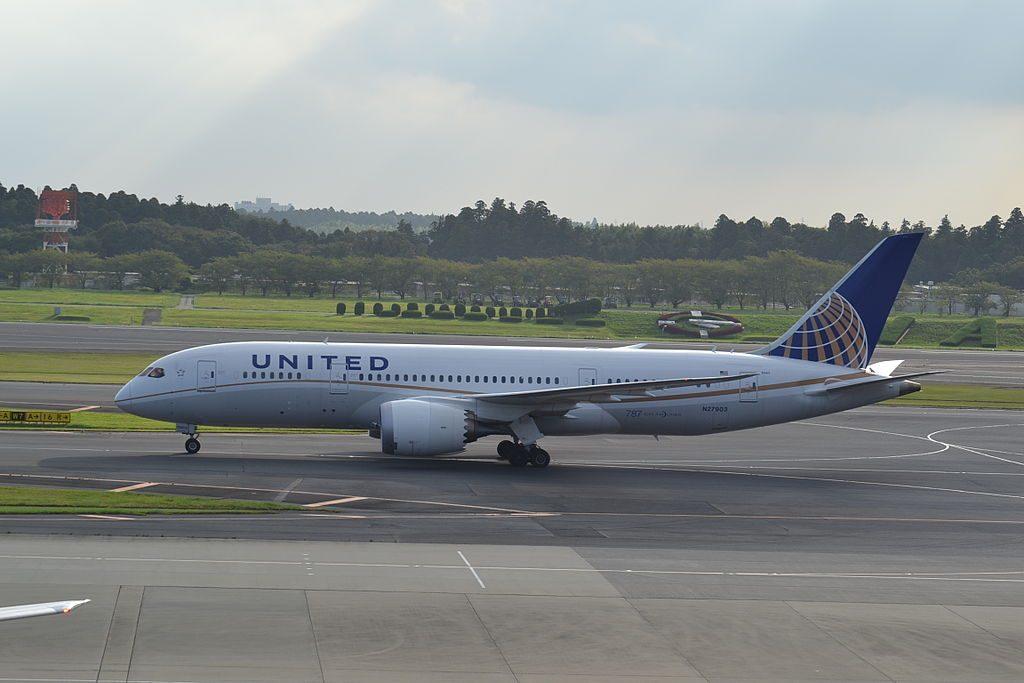 United Airlines Aircraft Fleet Boeing 787 8 Dreamliner N27903 cnserial number 3482352 at Tokyo Narita NRTJapan