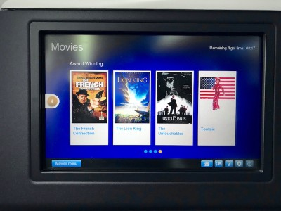 United Airlines Aircraft Fleet Boeing 787 8 Dreamliner Polaris BusinessFirst Class Cabin In Flight Entertainment System Good Content Selection