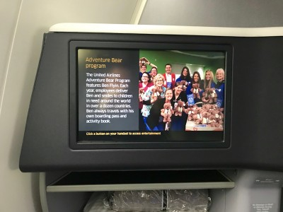 United Airlines Aircraft Fleet Boeing 787 8 Dreamliner Polaris BusinessFirst Class Cabin In Flight Entertainment System
