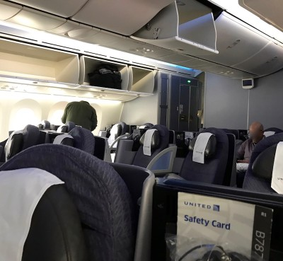 United Airlines Aircraft Fleet Boeing 787 8 Dreamliner Polaris BusinessFirst Class Forward Cabin Photos