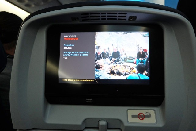 United Airlines Aircraft Fleet Boeing 787 9 Dreamliner Economy Class Cabin IFE along with the USB port and headphone jack