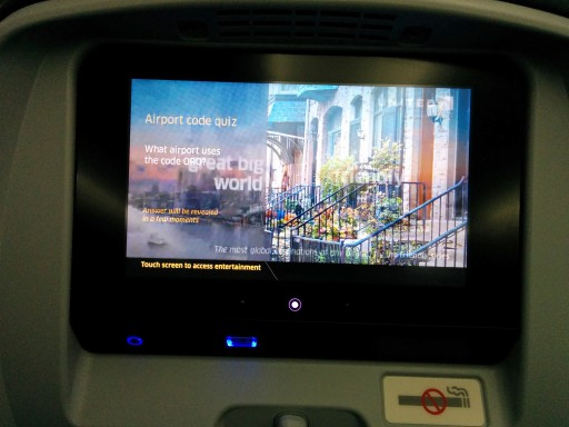 United Airlines Aircraft Fleet Boeing 787 9 Dreamliner Economy Class Cabin IFE with the USB port below