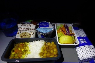 United Airlines Aircraft Fleet Boeing 787 9 Dreamliner Economy Class Cabin Inflight Amenities Meal Food Services Menu Hindu Special option