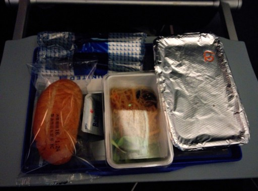 United Airlines Aircraft Fleet Boeing 787 9 Dreamliner Economy Class Cabin Inflight Amenities Meal Food Services Pasta menu option