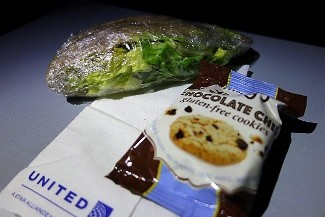 United Airlines Aircraft Fleet Boeing 787 9 Dreamliner Economy Class Cabin Inflight Amenities Special meal snack