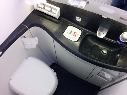 United Airlines Aircraft Fleet Boeing 787 9 Dreamliner Economy Class Cabin Inside the toilet it was new and clean