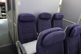 United Airlines Aircraft Fleet Boeing 787 9 Dreamliner Economy Class Cabin Seats last 3 rows of Y 39 41 do not have overhead storage