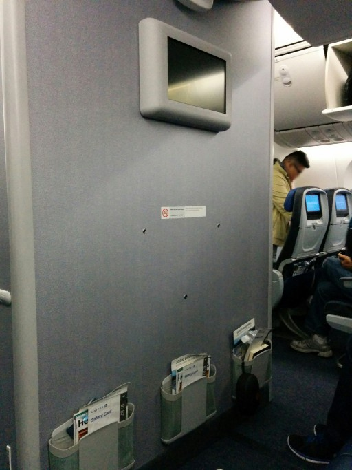 United Airlines Aircraft Fleet Boeing 787 9 Dreamliner Economy Class Cabin middle bulkhead seats