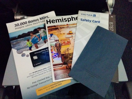 United Airlines Aircraft Fleet Boeing 787 9 Dreamliner Economy Class Cabin seatback materials