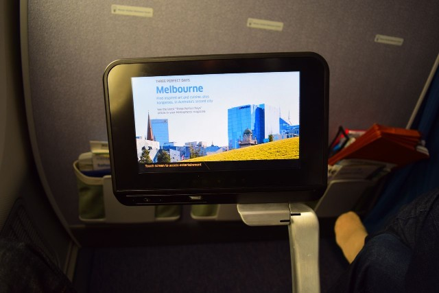 United Airlines Aircraft Fleet Boeing 787 9 Dreamliner Economy Plus Premium Eco Class Cabin IFE entertainment screen system