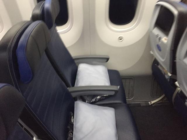United Airlines Aircraft Fleet Boeing 787 9 Dreamliner Economy Plus Premium Eco Class Cabin Seats Row Photos