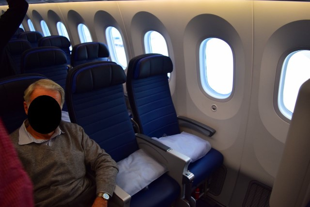 United Airlines Aircraft Fleet Boeing 787 9 Dreamliner Economy Plus Premium Eco Class Cabin new leather seats