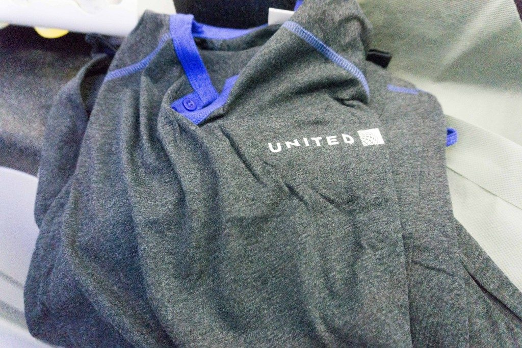 United Airlines Aircraft Fleet Boeing 787 9 Dreamliner Polaris Business Class Cabin inflight amenities pajamas were soft and comfortable