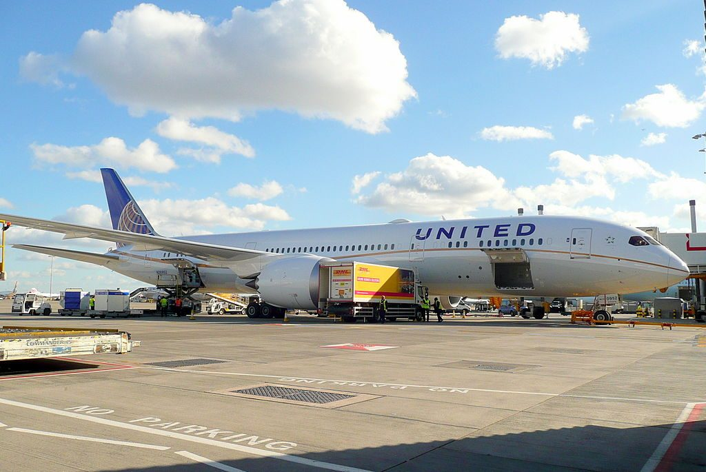 United Airlines Aircraft Fleet N26952 Boeing 787 9 Dreamliner cnserial number 36403263 on stand at T2 London Heathrow Airport