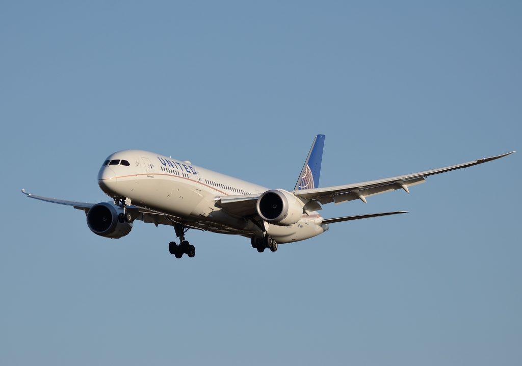 United Airlines Aircraft Fleet N26960 Boeing 787 9 Dreamliner cnserial number 36408355 on final approach at Narita International Airport NRTRJAA