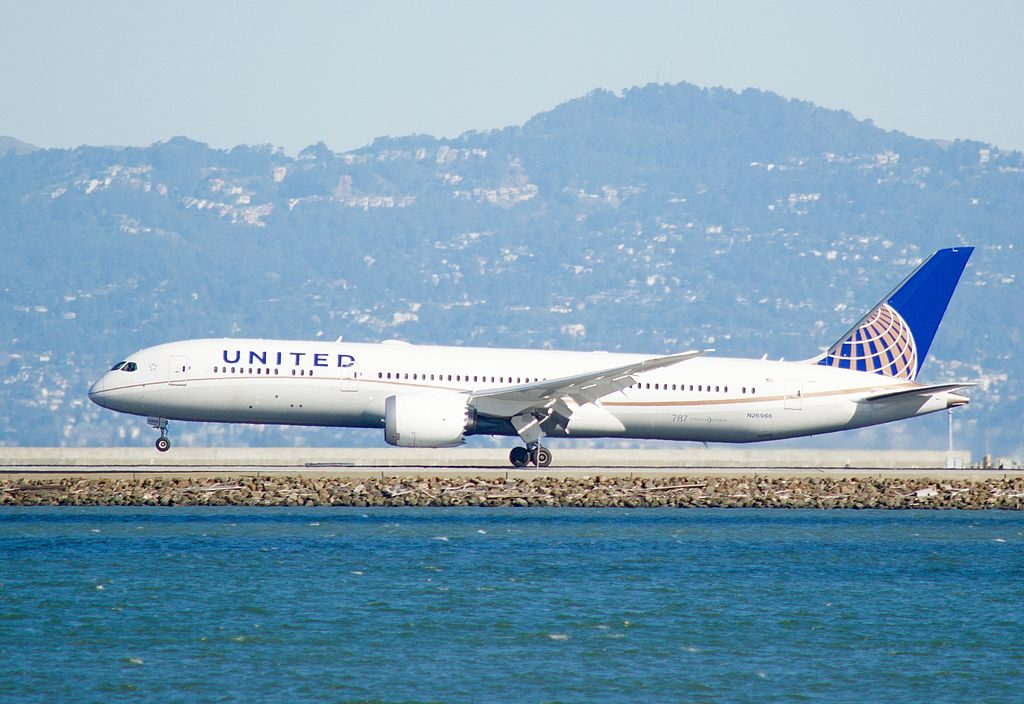United Airlines Aircraft Fleet N26966 Boeing 787 9 Dreamliner cnserial number 60143443 arrival at San Francisco International Airport