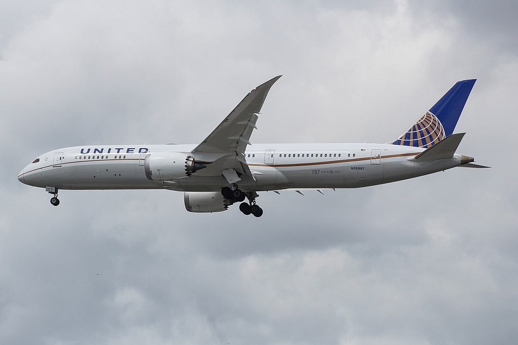 United Airlines Aircraft Fleet N26967 Boeing 787 9 Dreamliner cnserial number 60144445 arrivals at London Heathrow Airport