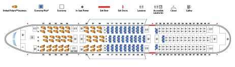 United Airlines Boeing 787 9 Dreamliner Seat map 4888116 configuration