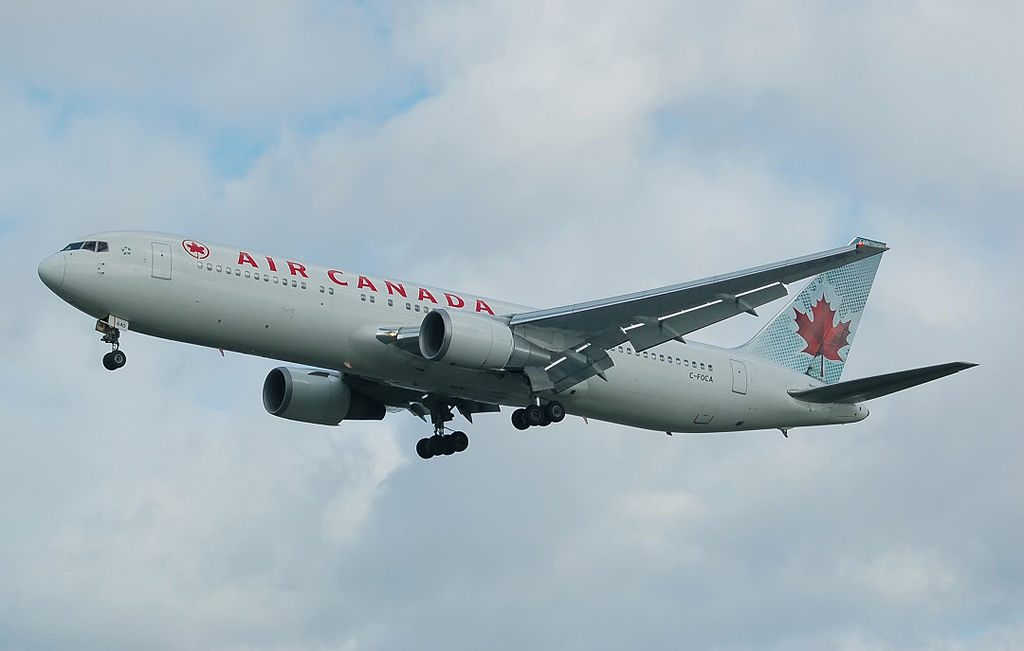 Air Canada ACA B767 375ER C FOCA landing at London Heathrow Airport England