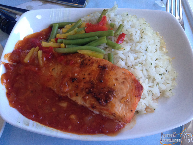 Air Canada Airbus A319 100 Business Class Cabin Inflight Meal Dinner Services Main Course Menu @Pursued Adventures