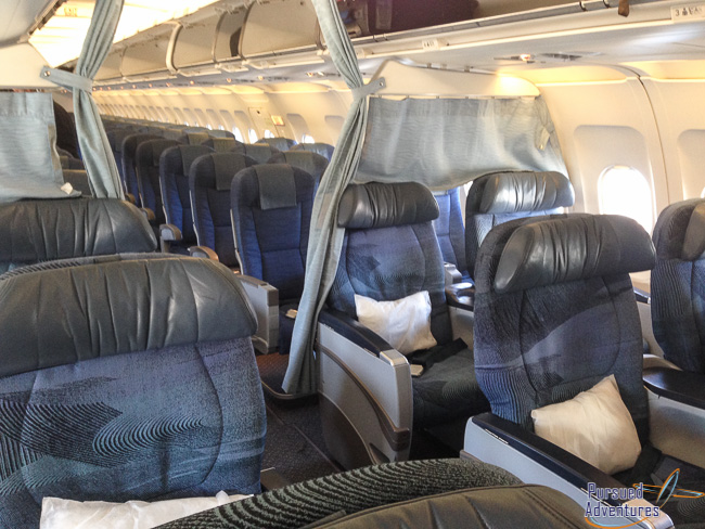 Air Canada Airbus A319 100 Business Class Cabin Seating Layout Photos @Pursued Adventures