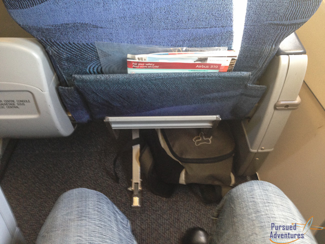 Air Canada Airbus A319 100 Business Class Cabin Seats Pitch Legroom Photos @Pursued Adventures