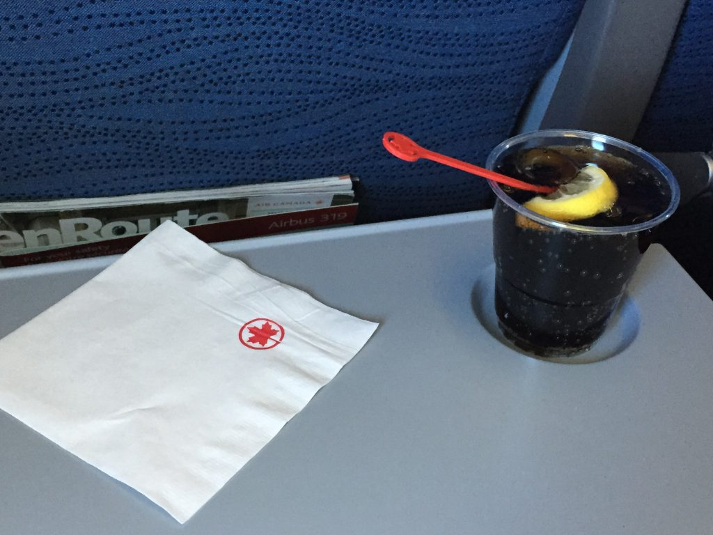Air Canada Airbus A319 100 Economy Class Inflight Amenities Beverages Services Photos