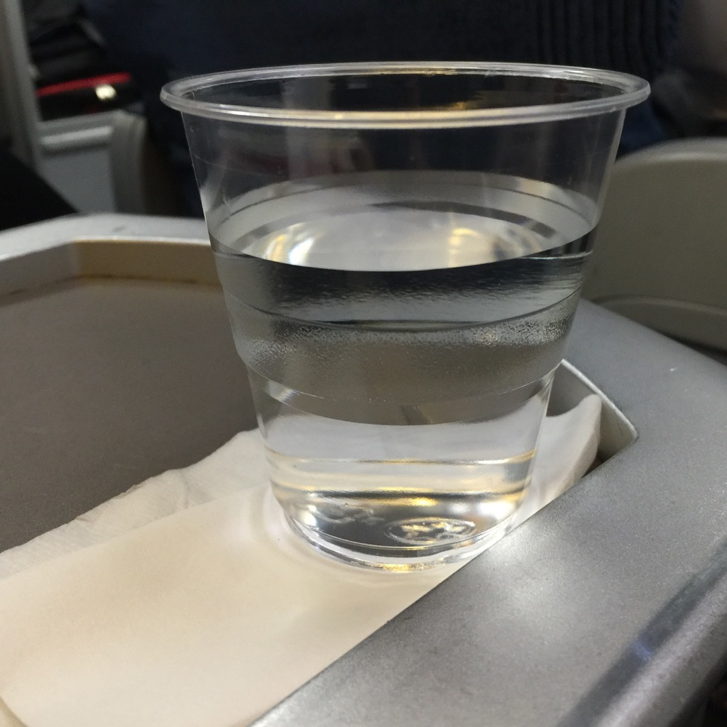 Air Canada Airbus A321 200 Business Class cabin inflight amenities pre departure drinks services