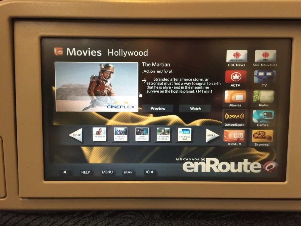 Air Canada Airbus A321 200 Business Class cabin inflight entertainment product IFE system