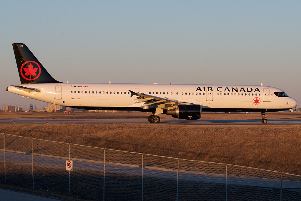 Air Canada Airbus A321 200 C GJWD departing Toronto Pearson International Airport