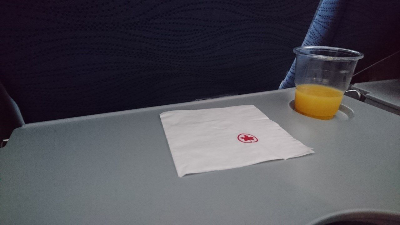 Air Canada Airbus A321 200 Economy Class cabin infligt amenities drinks and snacks services