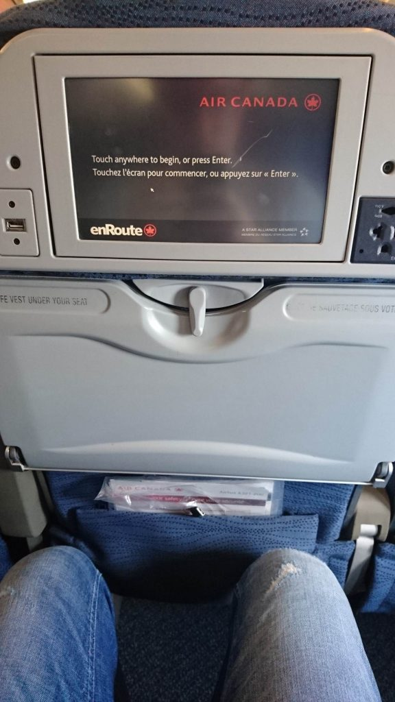 Air Canada Airbus A321 200 Economy Class cabin standard seats pitch legroom with IFE system