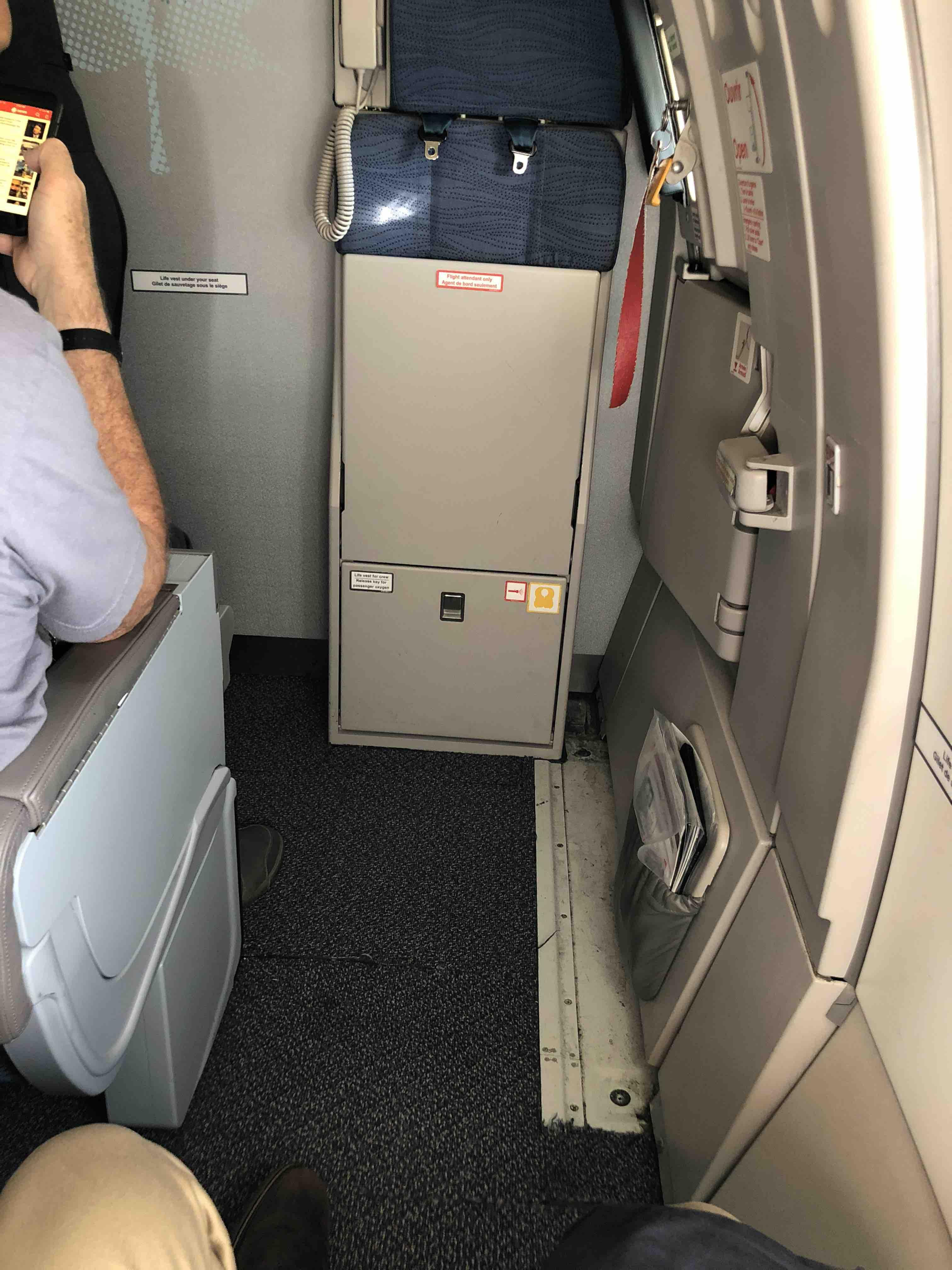Air Canada Airbus A321 200 exit row seating photos
