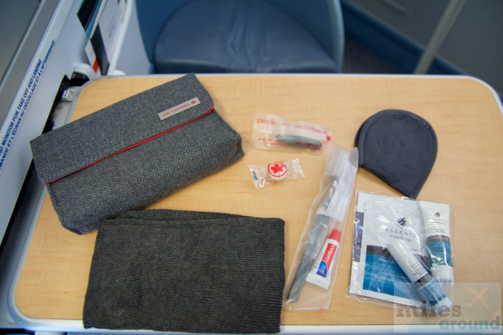 Air Canada Airbus A330 300 Business class cabin inflight amenity kits @milesaround