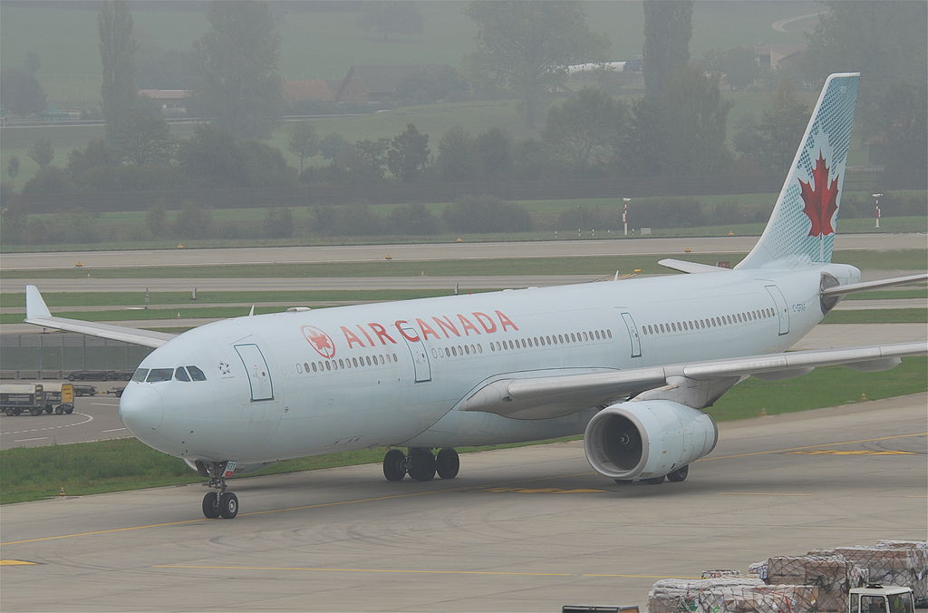 Air Canada Airbus A330 300 C GFAF at Zurich Airport ZRH