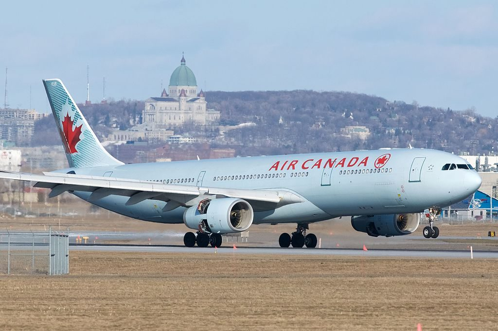 Air Canada Airbus A330 300 C GHKR landing at Montréal Pierre Elliott Trudeau International Airport