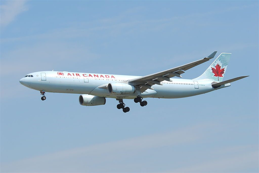 Air Canada Airbus A330 300 C GHKW on final at Frankfurt Airport