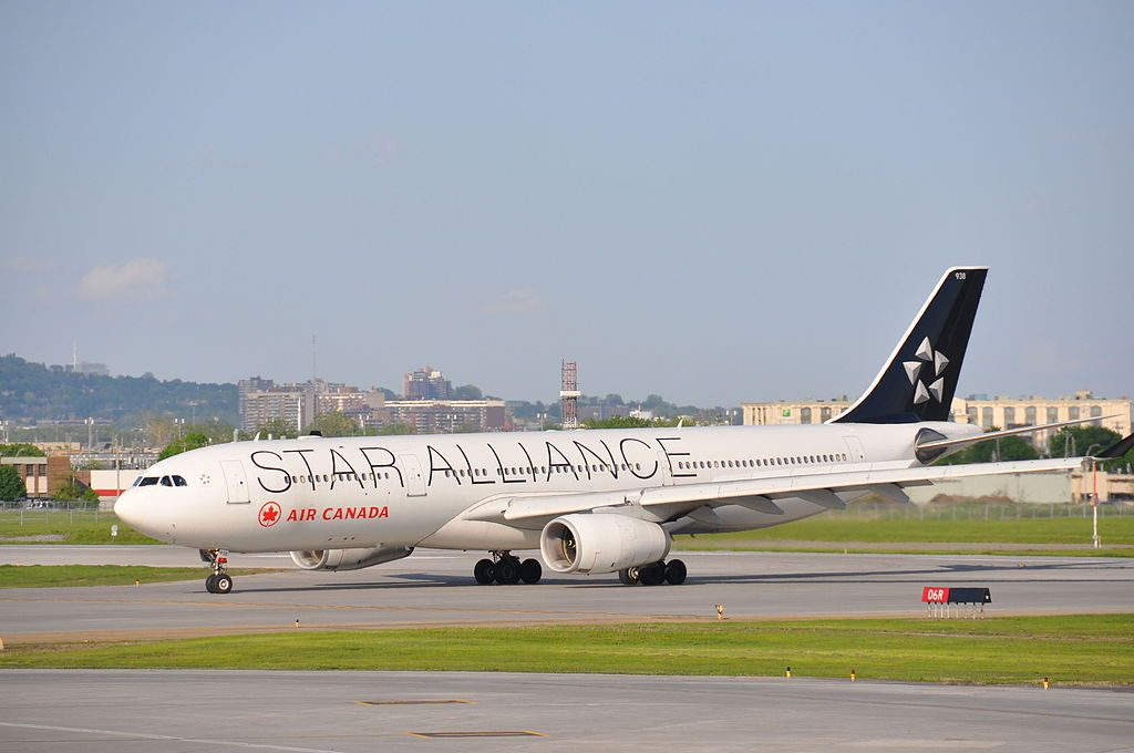 Air Canada Airbus A330 300 C GHLM STAR ALLIANCE Livery at Montréal Pierre Elliott Trudeau International Airport