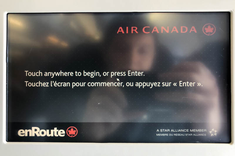 Air Canada Airbus A330 300 Short Haul Domestic Economy Class Service IFE system